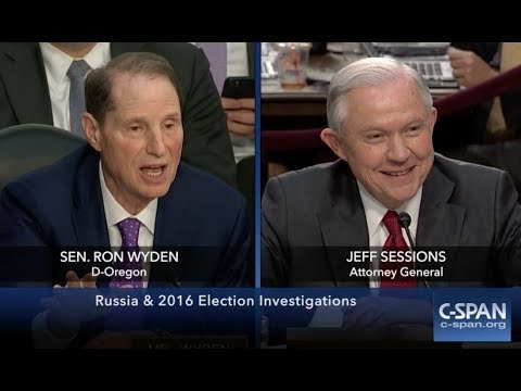 Jeff Sessions' HEATED EXCHANGE with Ron Wyden During the Trump-Russia Senate Intelligence Hearing