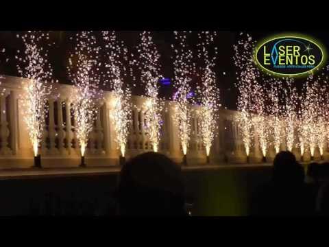 Chisperos para eventos Pirotecnia Fria Chispas Plateadas 2017