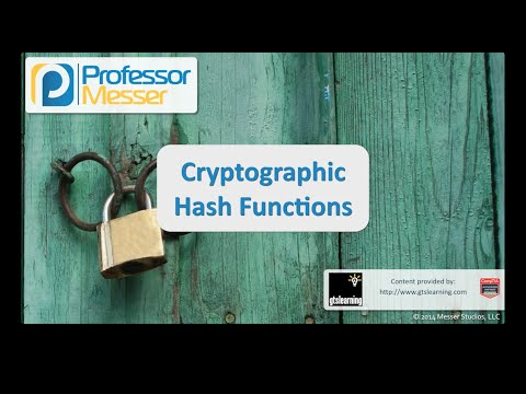 Cryptographic Hash Functions - CompTIA Security+ SY0-401: 6.2