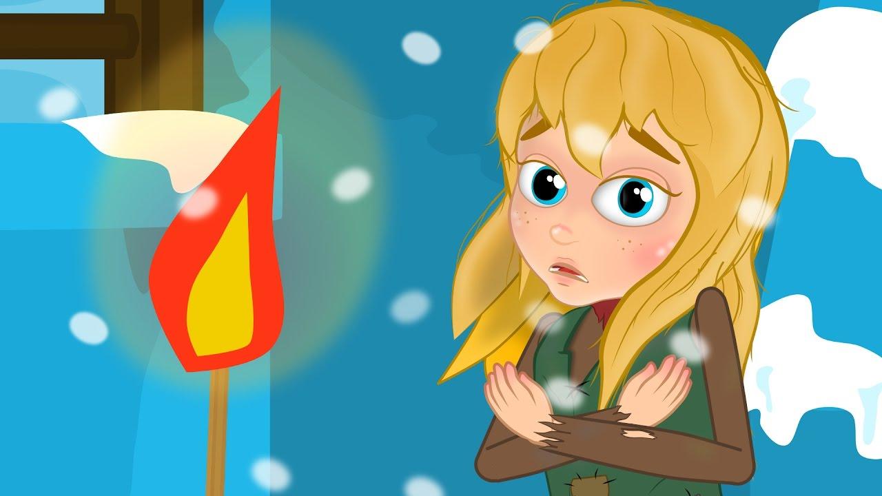 La piccola fiammiferaia storie per bambini cartoni