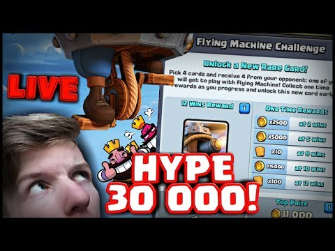 CLASH ROYALE FLYING MACHINE CHALLENGE A 30 000 ODBĚRATELŮ!