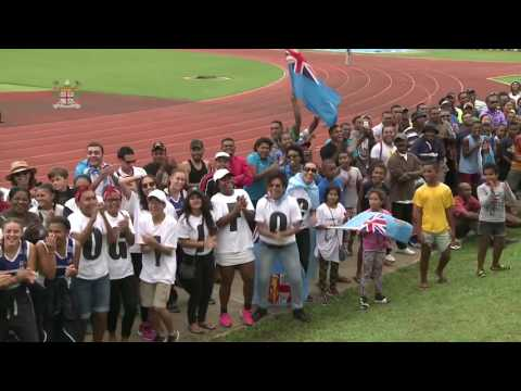 Fijians Celebrate Rugby Win at 2016 Rio Olympics