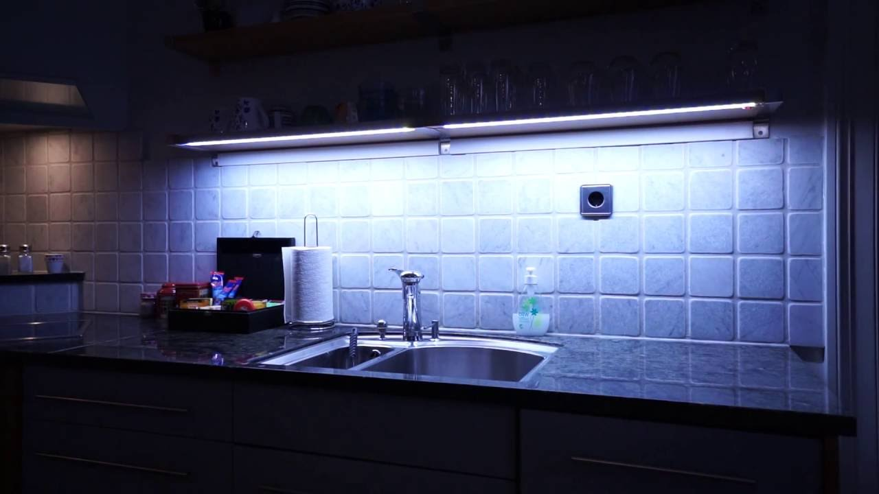 Dimmable led kitchen light using arduino and apds 9960