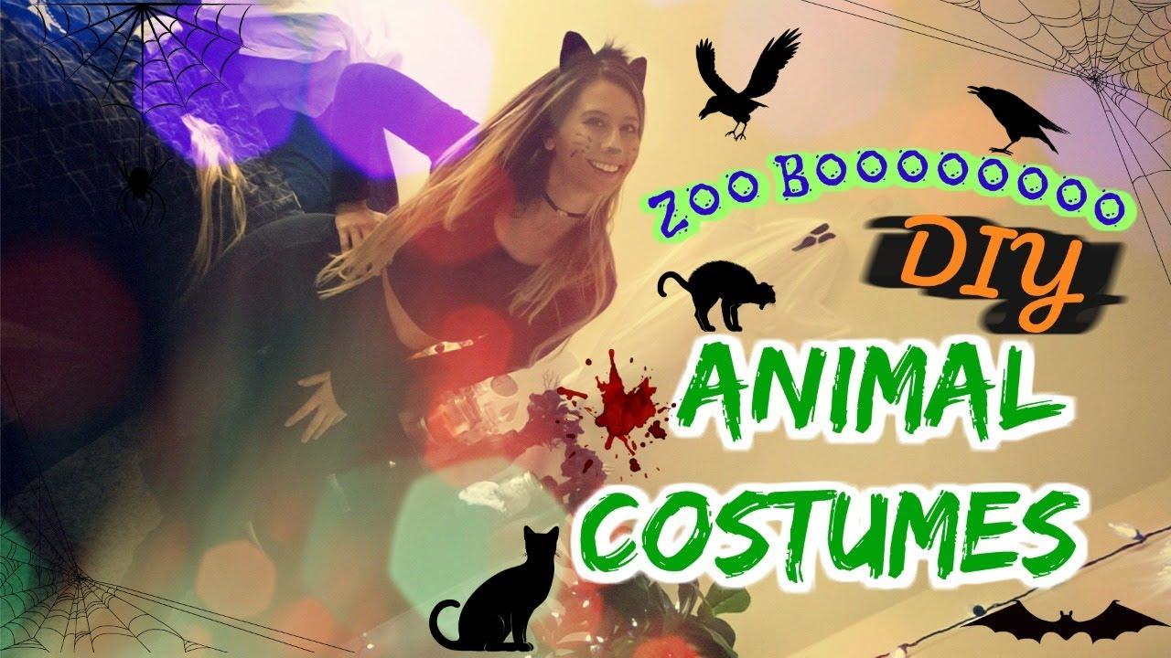 ZOO BOO! DIY Animal Halloween Costumes! 🎃🕸🖤👻🐭🐰🐱✨✨