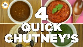 4 Quick Chutney Recipes By Food Fusion