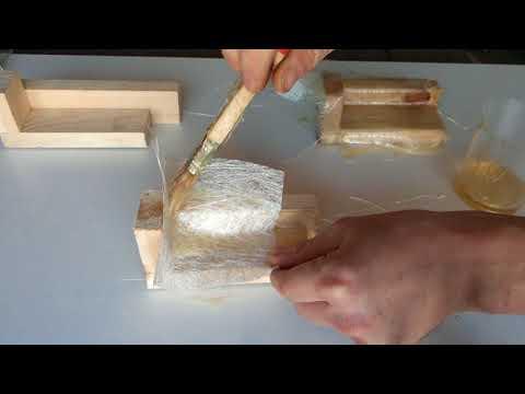 Стеклоткань и стекломат с эпоксидной смолой, полиэфирной смолой