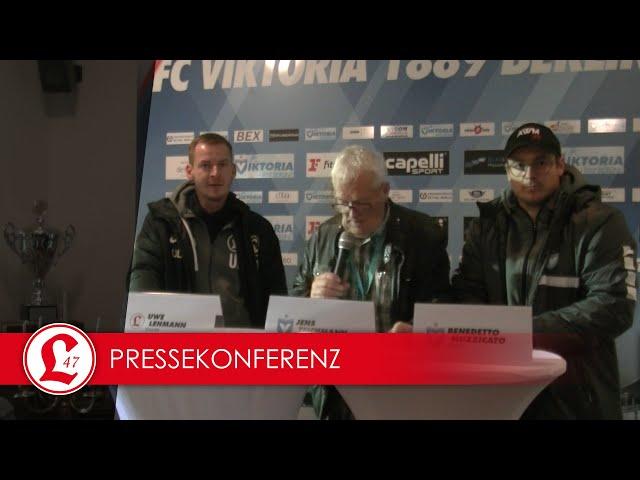 Regionalligateam: Pressekonferenz nach dem Spiel Viktoria 89 – Lichtenberg 47
