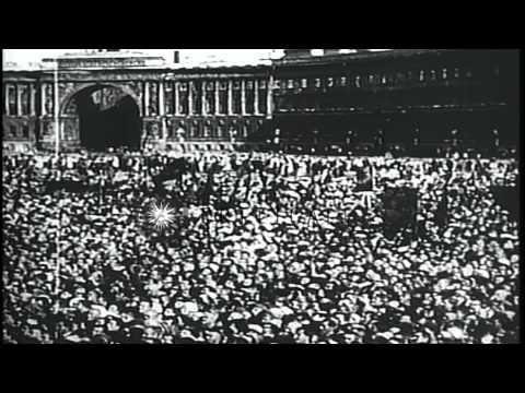 Russian Revolution during World War I. HD Stock Footage