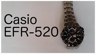 AFFORDABLE CHRONOGRAPH WATCH - Casio Edifice EFR-520 Carbon (Dimensions, Demonstration, Review)