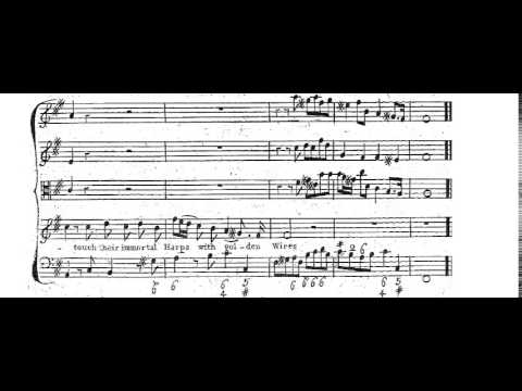 Let the bright seraphim (Samson - Händel) Score Animation