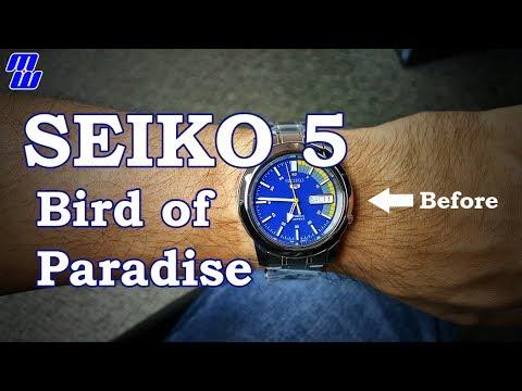 Seiko 5 Bird Of Paradise Mod