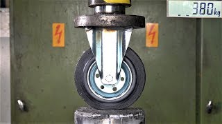 How Strong Are Industrial Rollers? Hydraulic Press Test!