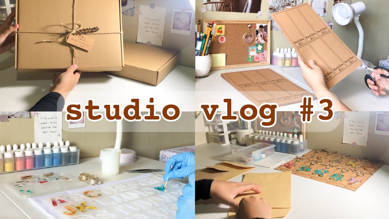 Studio Vlog #3 | Running My Own Craft Shop, Making and Packing Resin Orders