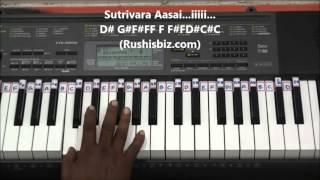 chinna chinna aasai piano tutorials   roja tamil