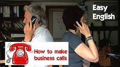 Easy English - business telephoning (key phrases)