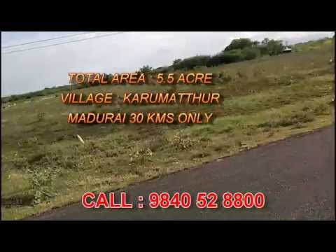 5.5 Acre Land for sale in Madurai Karumatthur near Arul Anandhar College