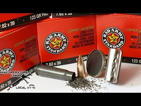 Red Army Standard Copper Jacketed 7.62 x 39 ammo - first look