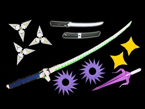 06 Easy Origami Ninja Star/Sword/Knife - How to make