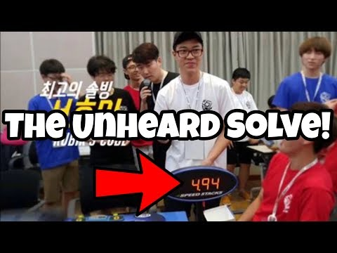The 4.94 Official Rubik's Cube Solve That Went Unheard! (Hyo-Min Seo)