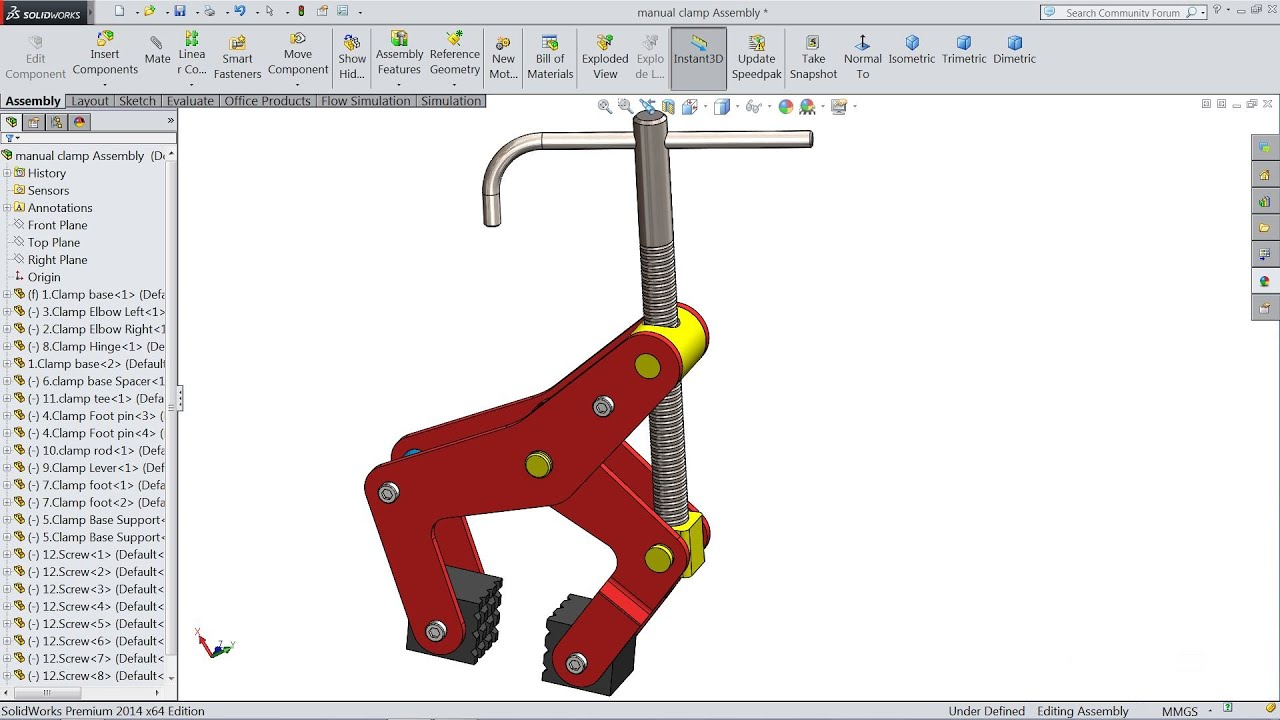 solidworks tutorial sketch manual clamp in solidworks youtube rh youtube com solidworks flow simulation manual solidworks flow simulation training manual