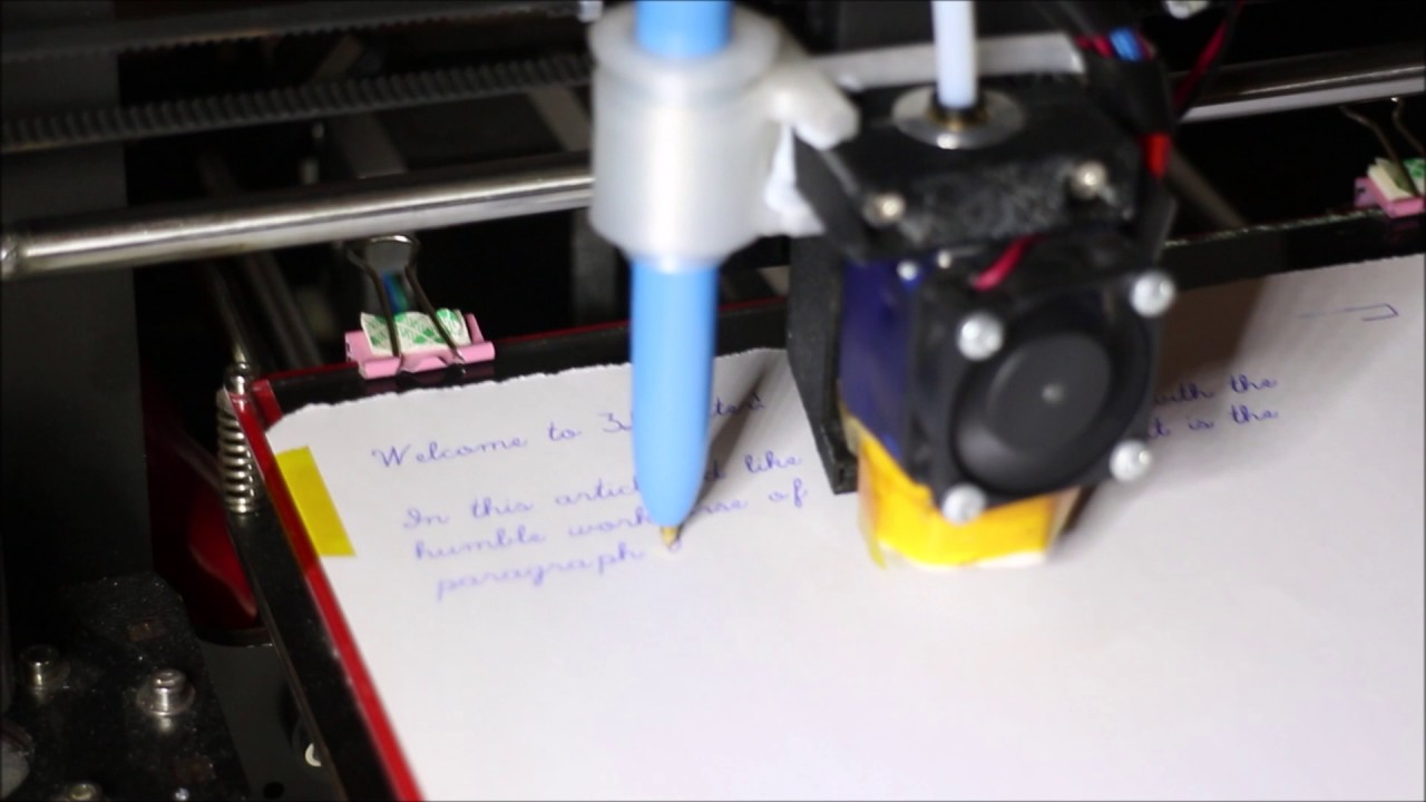 3DWriter free Use your 3D Printer with a pen to write letters – Birthday Card Printer