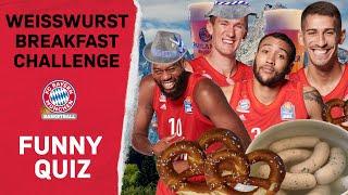 Lustiges Bayern Quiz | Weißwurst Frühstück beim FC Bayern Basketball