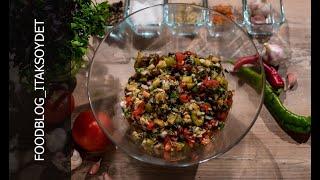 Рецепт аджапсандала на мангале | Теплый салат из овощей