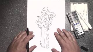 How to draw Disney Megara from Hercules, with a happy ending.