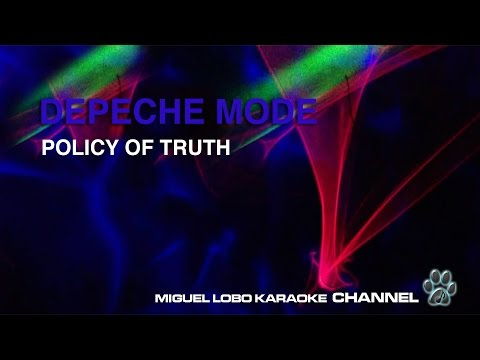DEPECHE MODE - POLICY OF TRUTH - Karaoke Channel Miguel Lobo