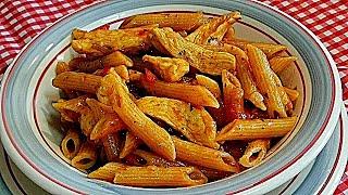 Deliciosos Macarrones con Pollo o Pasta con pollo Riquísima y Fácil (A mi manera)