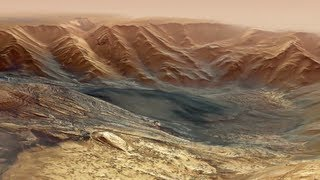 Fly-through movie of Hebes Chasma