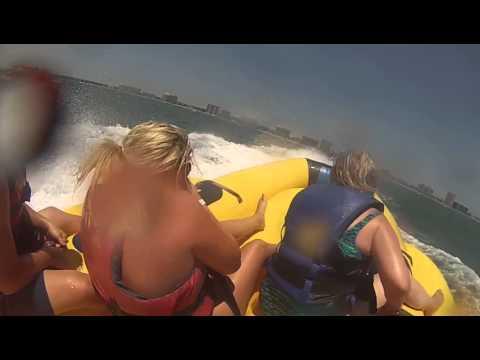 Crazy banana boat ride