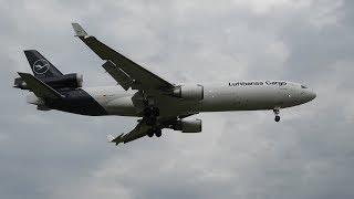 Pousos & Decolagens Lufthansa Cargo MD11F em Campinas