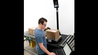 Overhead 3D Parcel Dimensioning System - CubiScan 75
