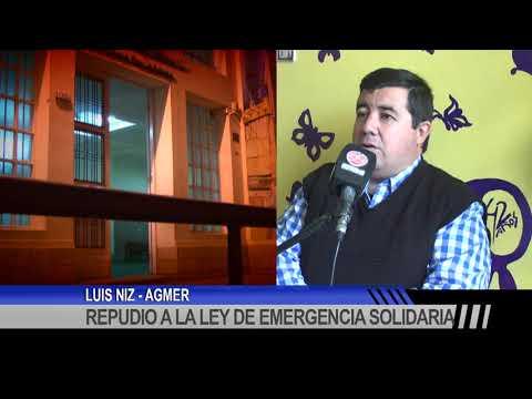 Repudio a la Ley de Emergencia Solidaria desde AGMER