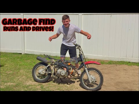 The FREE Pit Bike RUNS and RIDES!