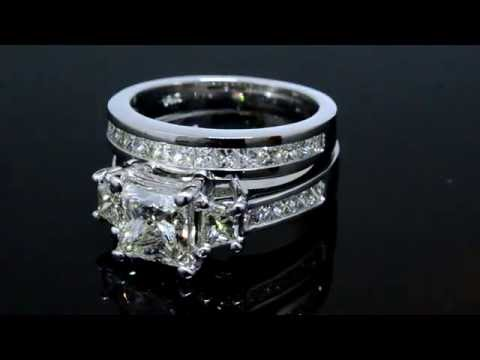 princess-cut-diamond-bridal-set,-engagement-ring-plus-matching-band-21424