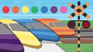火車教顏色(中文發音)|幼兒聲音顏色教學動畫|Learn colors with the color train for Children|幼児向け色(中国語)の踏切&電車アニメ|哈囉球球