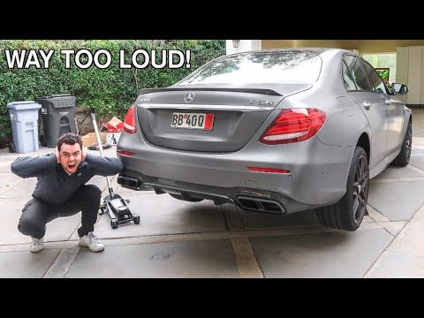 STRAIGHT PIPED MY MERCEDES E63S AMG?!