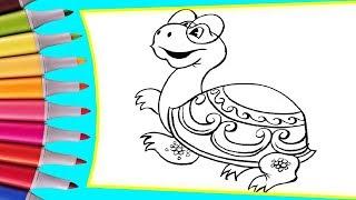 РАСКРАСКИ! Раскрашиваем картинки для детей из мультфильмов Как львенок и черепаха песню пели