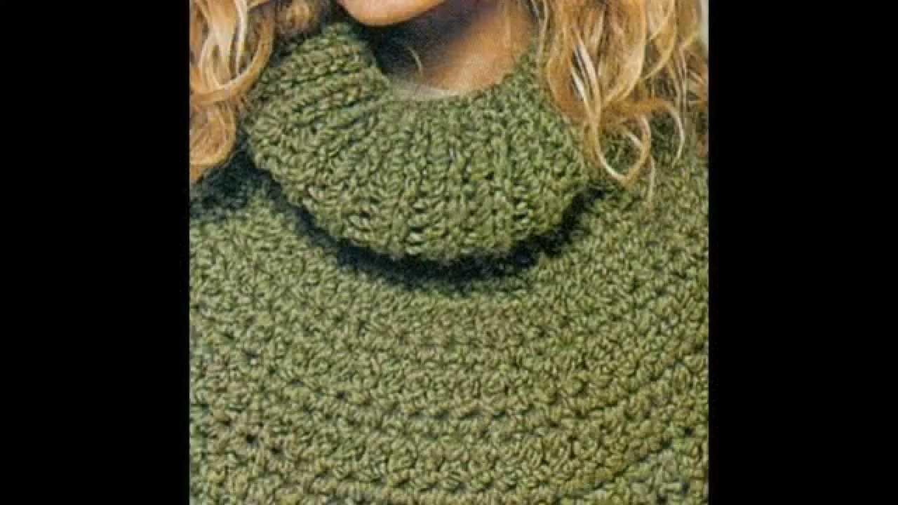 Patrón Para Tejer Poncho a Crochet - YouTube