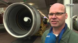 Motor Boeing 747 Jumbojet voor Deltion College in Zwolle