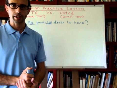 Free Spanish Lessons 213: Spanish practice lesson (1/2)
