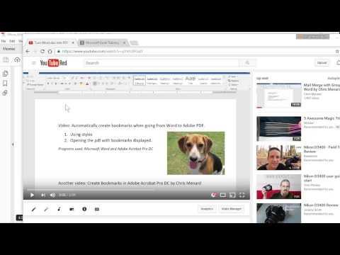 Create Bookmarks In Adobe Acrobat Pro By Chris Menard
