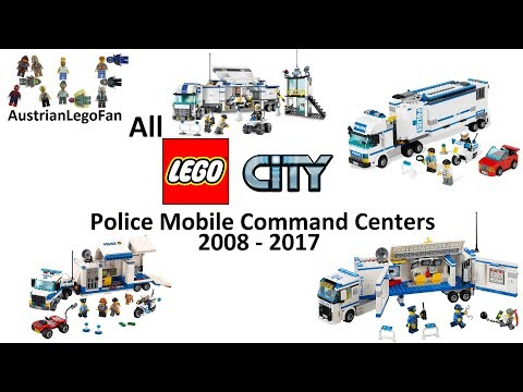 Every Lego City Police Mobile Command Center made between 2008-2017 - Lego Speed Build Review