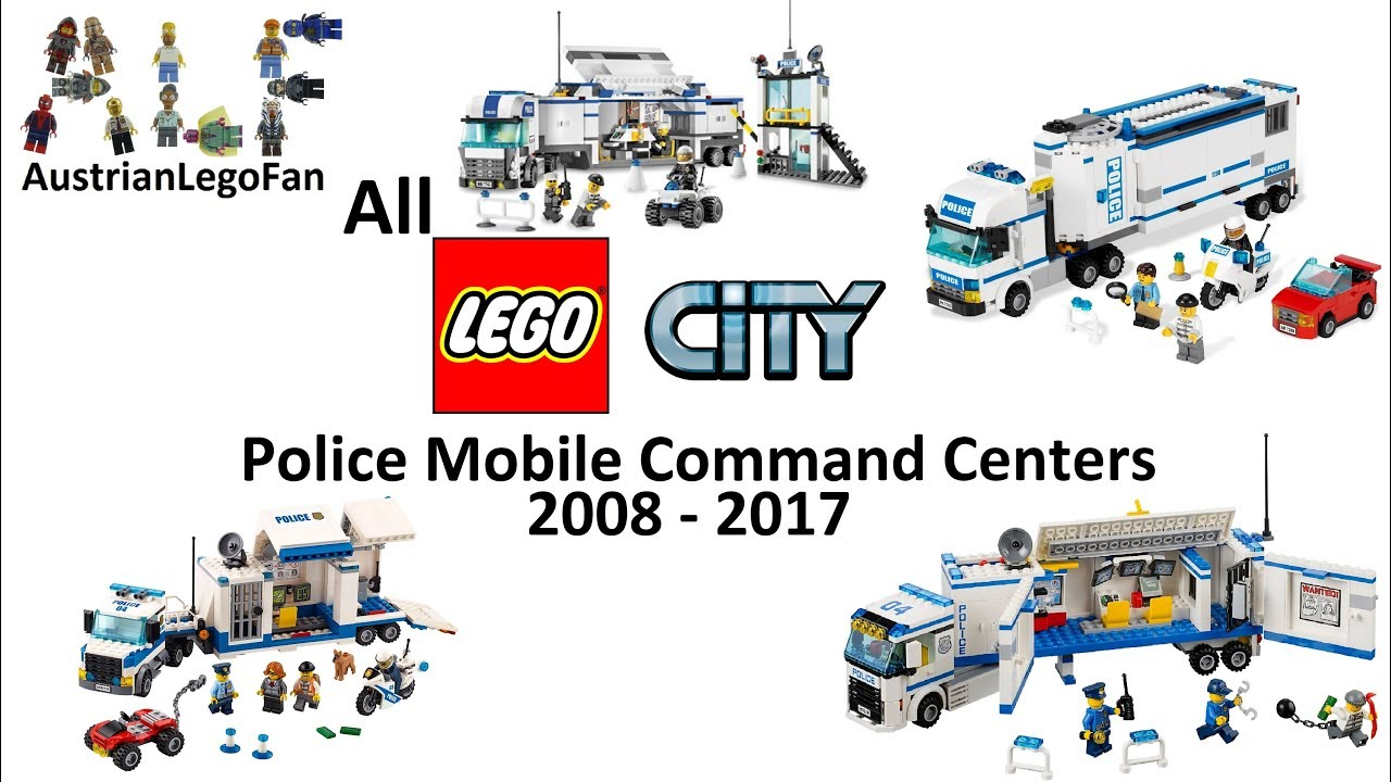 Every Lego City Police Mobile Command Center Made Between 2008 2017 Lego Speed Build Review Youtube