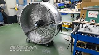 CNC加工廠內的移動式工業扇 - Industrial Drum Fans In The CNC Milling Machine Shop