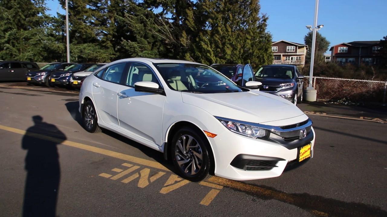 2016 Honda Civic Ex White Gh518280 Seattle On