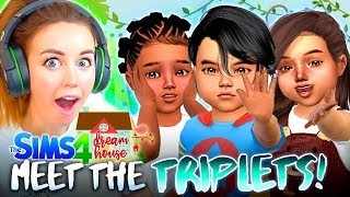 Meet the TRIPLETS! 👶👶👶 (The Sims 4 #95!🏡)