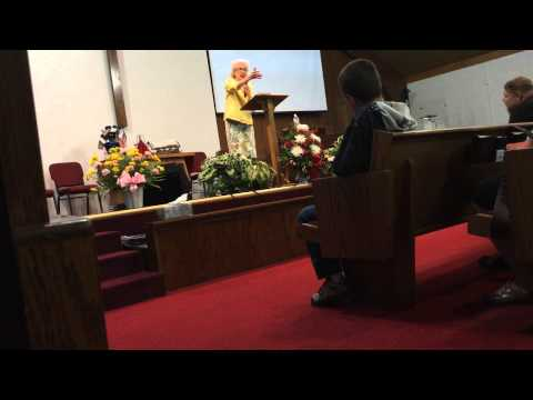 Sis. Vesta Mangun preaching